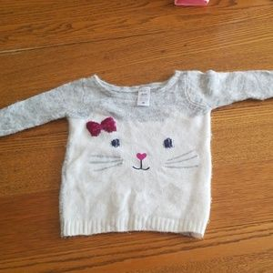 Nwot Carter's kitty fuzzy light sweater